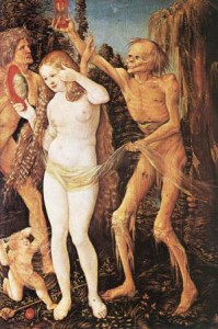 Three Ages of the Woman and the Death by Hans Baldung-Grien