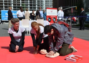 NEW YORK, NY - JUNE 05: A general view of atmosphere during American Heart Association's Hands-Only CPR Campaign Launch on June 5, 2012 in New York City. (Photo by Mike Coppola/Getty Images for American Heart Association)