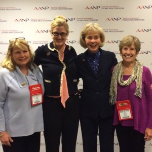 From the left: Nancy Selix, Kristi Westphaln, Lois Capps, Carol Greene